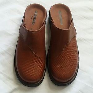 Clarks Collection Clog/Mule Cognac Leather Sz.8